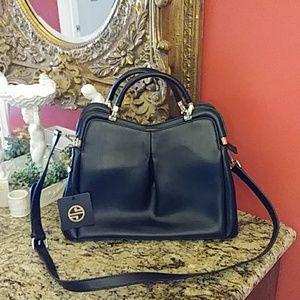 Segolene En Cuir Genuine Leather Satchel Handbag